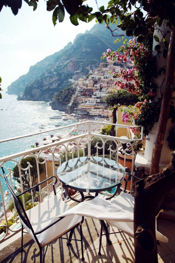 Missing my summer of love in Positano, Italy- this was exactly our view!